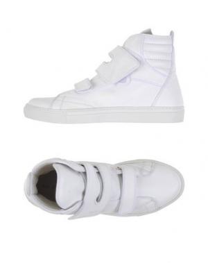 Высокие кеды и кроссовки RAF SIMONS. Цвет: белый