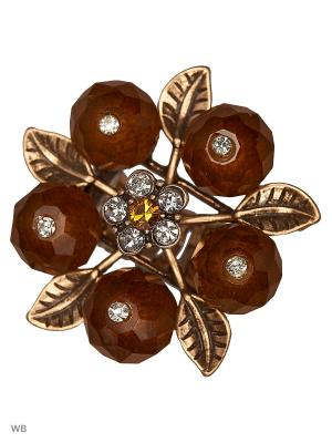 Кольцо AVGAD. Цвет: светло-коричневый