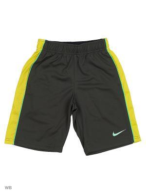 Шорты B NK SHORT ACELER8 Nike. Цвет: черный, желтый