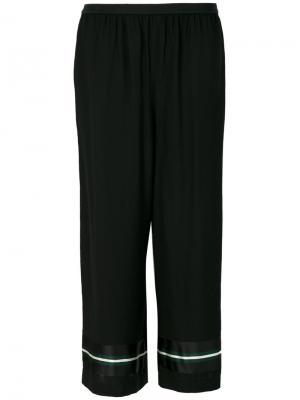 Укороченные широкие пижамные брюки  IM Isola Marras I'M. Цвет: чёрный