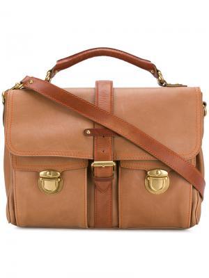 Сумка для ноутбука с карманами клапанами Marc Jacobs. Цвет: коричневый