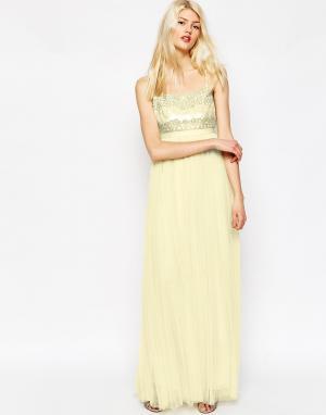 Needle & Thread Платье макси. Цвет: розовый