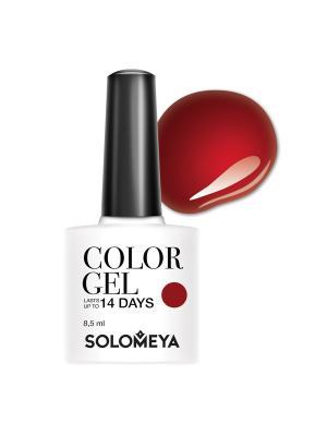 Гель-лак Solomeya Color Gel Martinа SCGK093/Мартина. Цвет: темно-красный