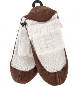 Высокие носки с подошвой из нубука FALKE. Цвет: коричневый