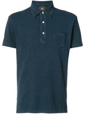 Рубашка-поло с нагрудным карманом Rrl. Цвет: синий
