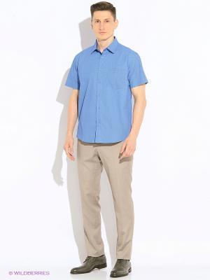 Рубашка Hazard. Цвет: синий