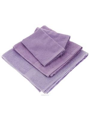Махровое полотенце сиреневое Aisha. Цвет: сиреневый