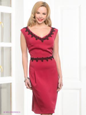 Платье Capriz. Цвет: бордовый, черный
