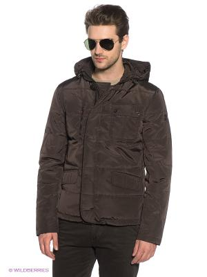 Куртка Marville. Цвет: темно-коричневый