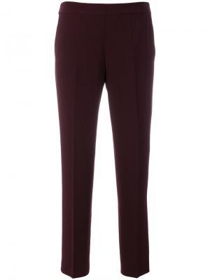 Укороченные брюки с эластичной талией Alberto Biani. Цвет: красный