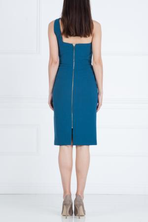 Платье из шерсти Roland Mouret. Цвет: голубой