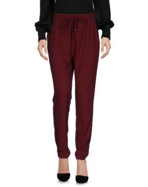 Повседневные брюки KONTATTO. Цвет: красно-коричневый