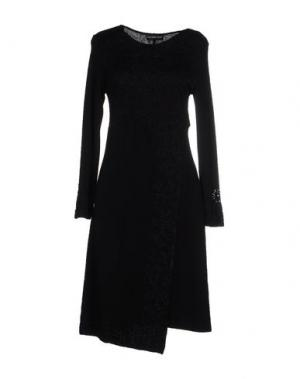 Платье до колена DANIELA DREI. Цвет: черный