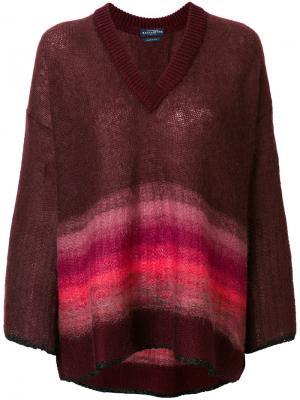 Объемный свитер в полоску Ballantyne. Цвет: коричневый