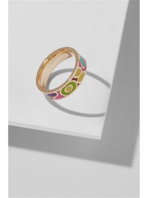 Кольцо Путешествие в Тоскану Nothing but Love. Цвет: лазурный, золотистый, салатовый