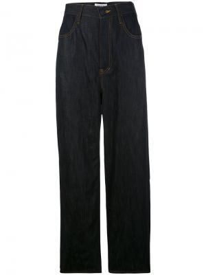 Расклешенные широкие брюки Enföld. Цвет: синий