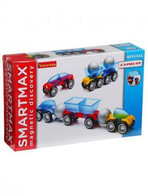 Магнитный конструктор SmartMax/ Bondibon Специальный (Special) набор: Экспресс.,арт.203. Цвет: белый, синий, красный