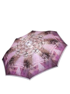 Зонт Fabretti. Цвет: коричневый, сиреневый