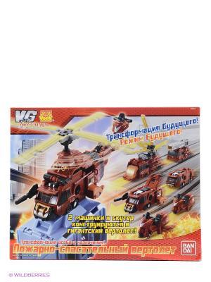 Набор VooV-G пожарно-спасательный вертолет-трансформер Bandai. Цвет: красный