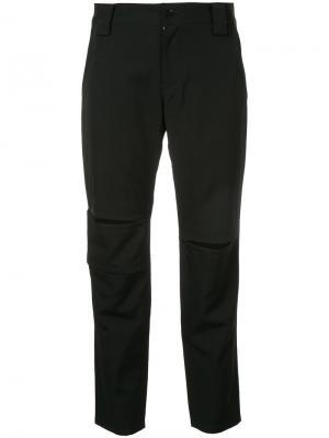 Укороченные брюки  с шлицами Yohji Yamamoto. Цвет: чёрный