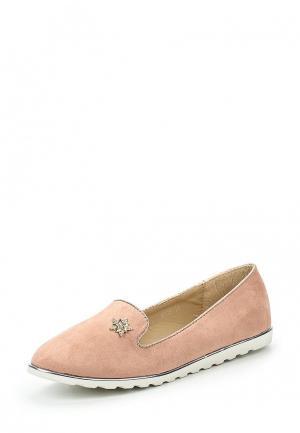 Лоферы Y & L. Цвет: розовый