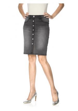 Моделирующая юбка RICK CARDONA by Heine. Цвет: серый деним