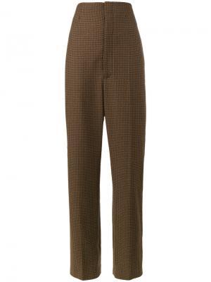 Строгие брюки Mariner Balenciaga. Цвет: коричневый