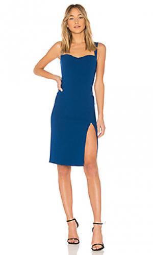 Платье миди sweetheart JILL STUART. Цвет: синий