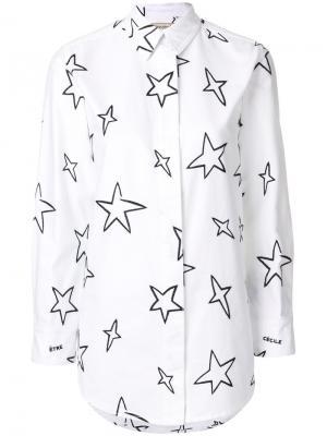 Рубашка с принтом Être Cécile. Цвет: белый