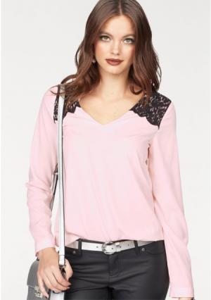 Блузка MELROSE. Цвет: зелено-синий, розовый