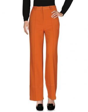 Повседневные брюки WOOD. Цвет: оранжевый