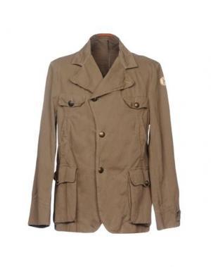 Легкое пальто HISTORIC RESEARCH. Цвет: хаки