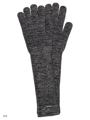 Перчатки GUESS. Цвет: черный