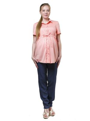 Блузка 9месяцев 9дней. Цвет: персиковый