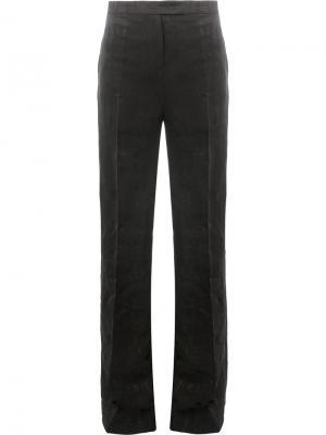 Фактурные брюки с завышенной талией Yang Li. Цвет: чёрный