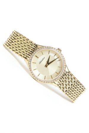 Часы наручные Adriatica. Цвет: желтый, шампань
