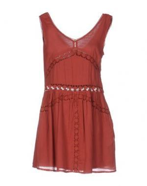 Короткое платье INTROPIA. Цвет: ржаво-коричневый