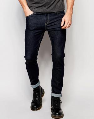 Cheap Monday Облегающие синие джинсы скинни. Цвет: синий