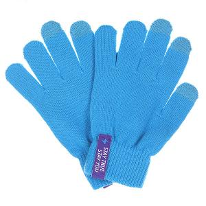 Перчатки  Touchgloves Blue TrueSpin. Цвет: голубой