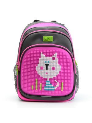 Рюкзак KIDS 4All. Цвет: серый, розовый