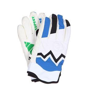 Перчатки сноубордические  Gloves Planet White Picture Organic. Цвет: синий,черный,белый