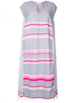 Платье в полоску Lemlem. Цвет: серый
