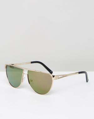 Jeepers Peepers Солнцезащитные очки-авиаторы. Цвет: золотой