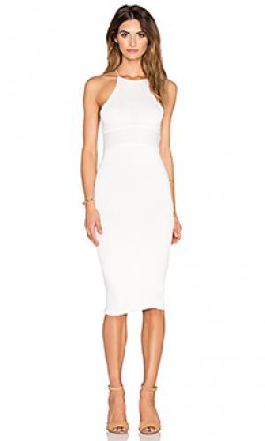Платье миди maisey De Lacy. Цвет: белый