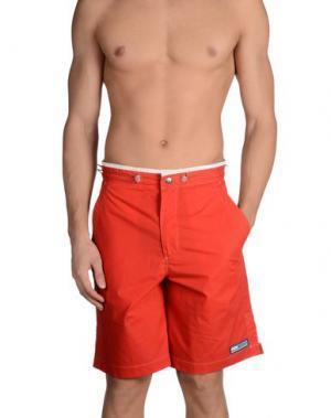 Пляжные брюки и шорты FORDOCKS. Цвет: красный
