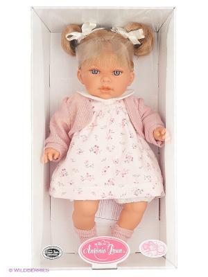 Кукла Лорена в розозовом, озвученная,37см Antonio Juan. Цвет: бледно-розовый