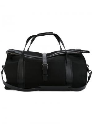 Дорожная сумка с ремешками Mismo. Цвет: чёрный