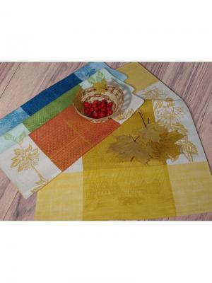 Набор полотенец из 4-х шт. Времена года-4 Белорусский Лен. Цвет: желтый, синий, зеленый, красный