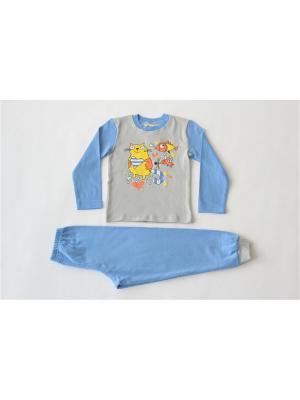 Пижама Iota. Цвет: серый, синий