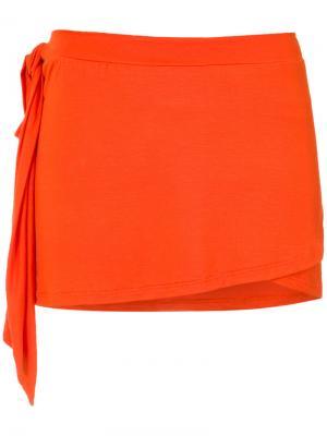 Накидка-конверт Amir Slama. Цвет: жёлтый и оранжевый